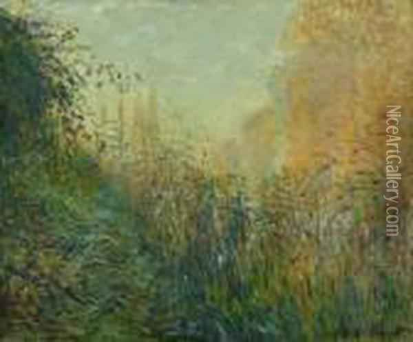 Etude De Joncs Oil Painting - Claude Oscar Monet