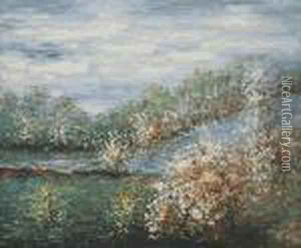 Baume In Blute Oil Painting - Claude Oscar Monet