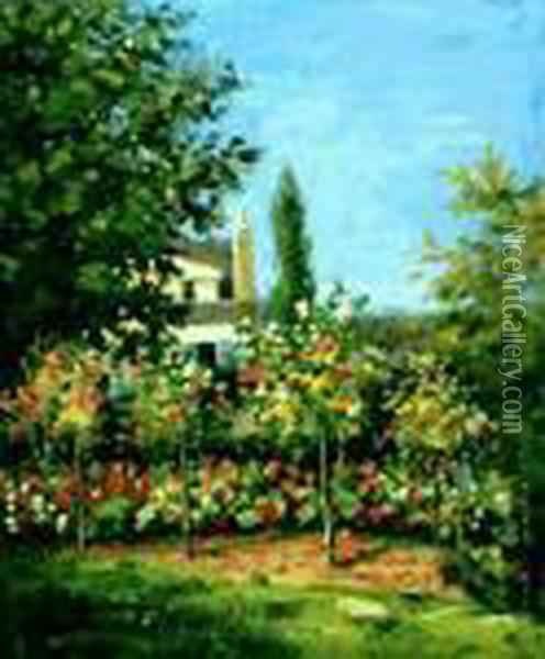 Blooming Garden Oil Painting - Claude Oscar Monet