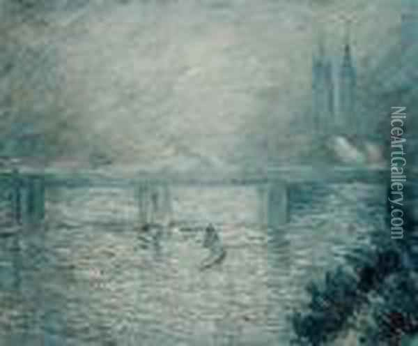 Charing Cross Bridge Oil Painting - Claude Oscar Monet