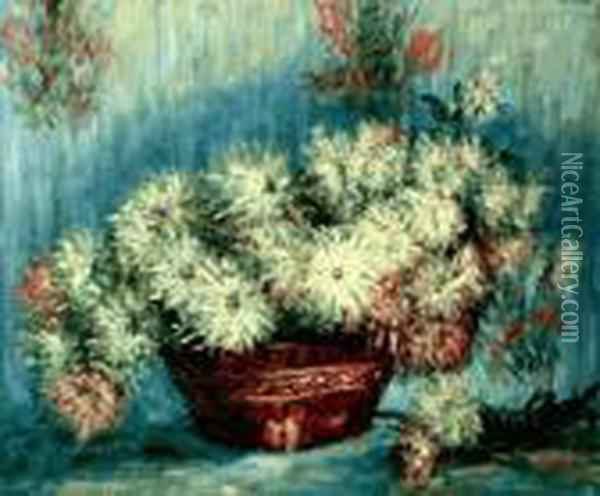 Chrysanthemums Oil Painting - Claude Oscar Monet