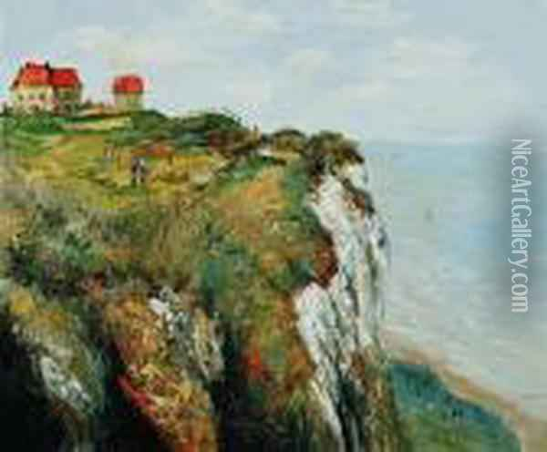 Cliff At Dieppe Oil Painting - Claude Oscar Monet