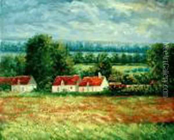 Field Of Poppies, Giverny Oil Painting - Claude Oscar Monet