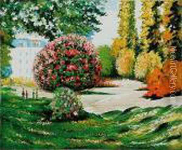 Il Parco Monceau Oil Painting - Claude Oscar Monet