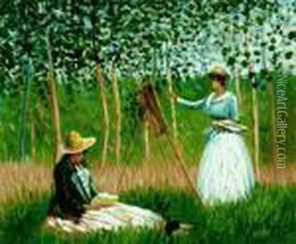 In The Woods At Giverny Oil Painting - Claude Oscar Monet