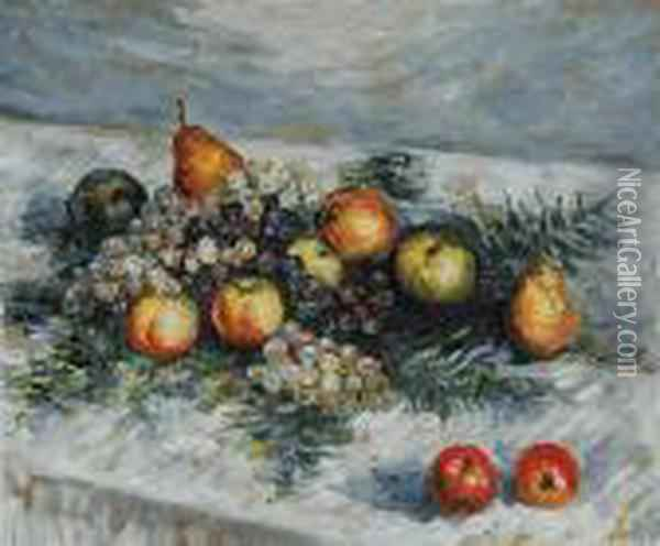 Pears And Grapes Oil Painting - Claude Oscar Monet