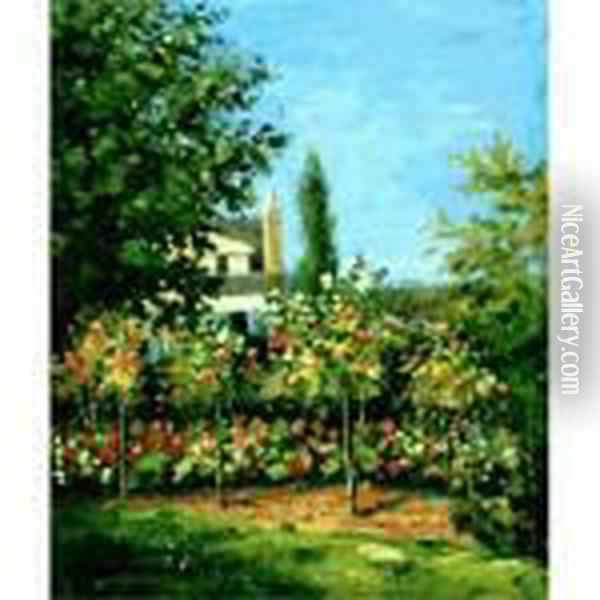 Apple Trees In Bloom Oil Painting - Claude Oscar Monet