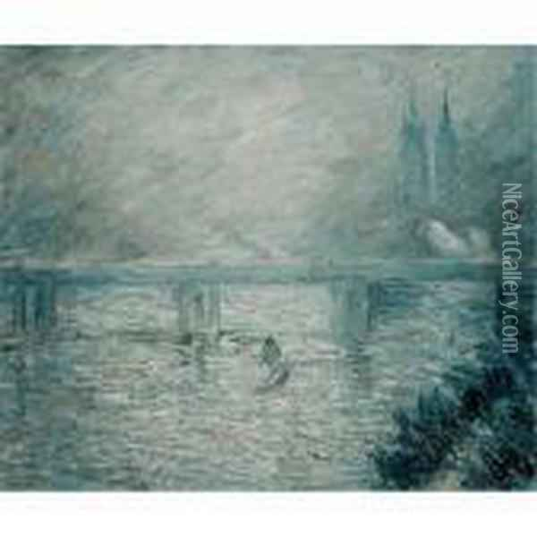 Boating On River Epte Oil Painting - Claude Oscar Monet