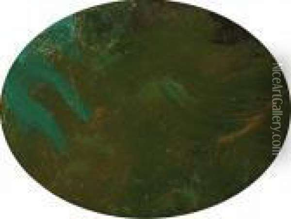 Nympheas (fragment) Oil Painting - Claude Oscar Monet