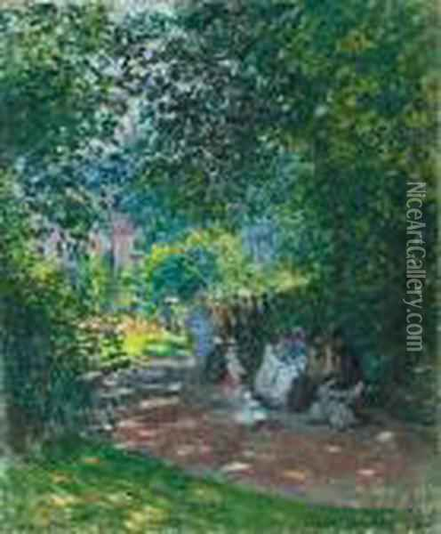 Au Parc Monceau Oil Painting - Claude Oscar Monet