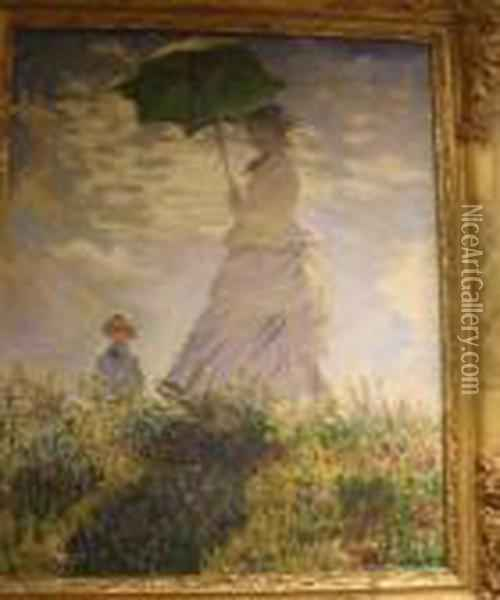 The Walk Oil Painting - Claude Oscar Monet