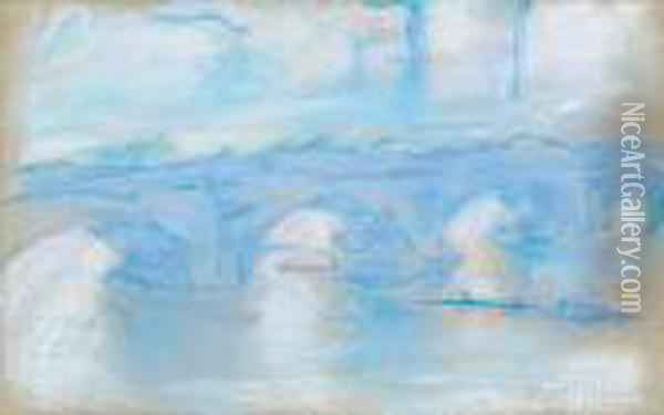 Waterloo Bridge Oil Painting - Claude Oscar Monet