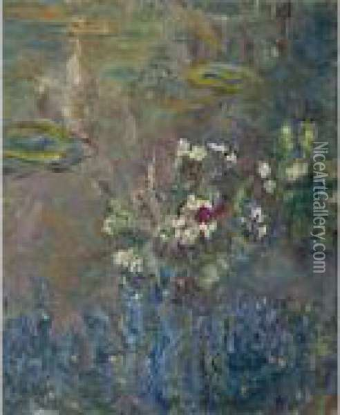 Les Nympheas Oil Painting - Claude Oscar Monet