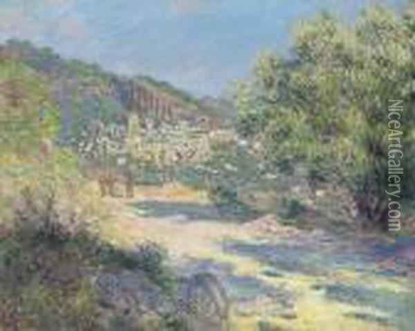 Route De Monte-carlo Oil Painting - Claude Oscar Monet