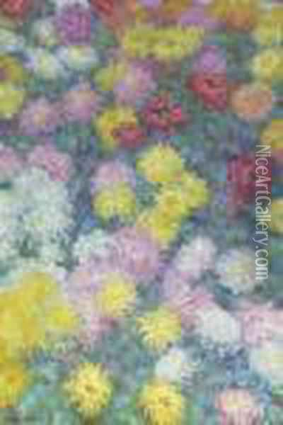 Chrysanthemes Oil Painting - Claude Oscar Monet