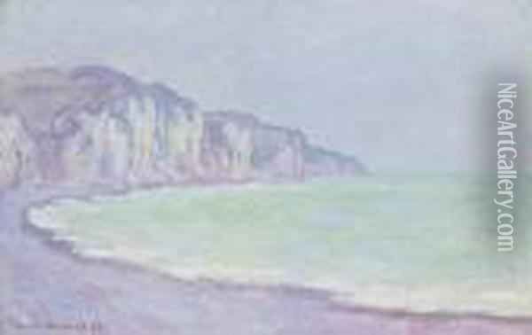 Falaise A Pourville Oil Painting - Claude Oscar Monet