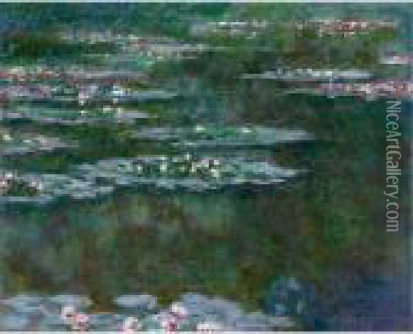 Nympheas Oil Painting - Claude Oscar Monet