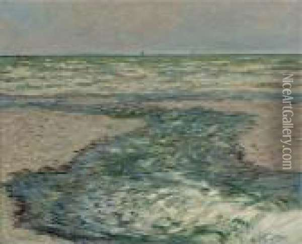 Riviere De Pourville, Maree Basse Oil Painting - Claude Oscar Monet