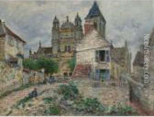 Property From The Collection Of Paul R. And Mary Haas              L'eglise De Vetheuil Oil Painting - Claude Oscar Monet