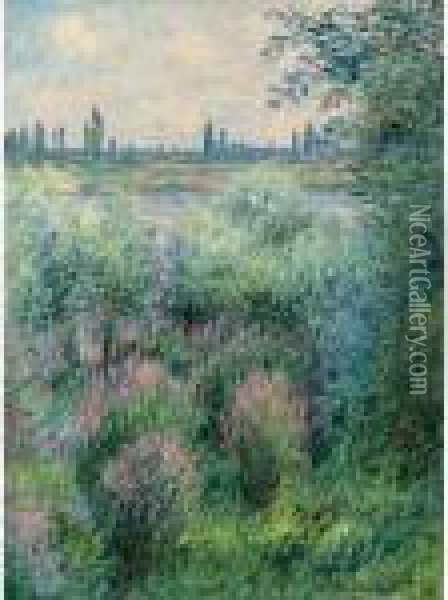 Bords De La Seine, Un Coin De Berge Oil Painting - Claude Oscar Monet