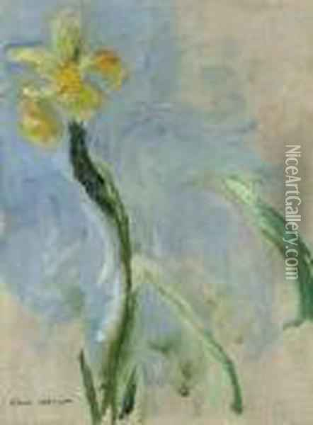 Iris Jaune Oil Painting - Claude Oscar Monet