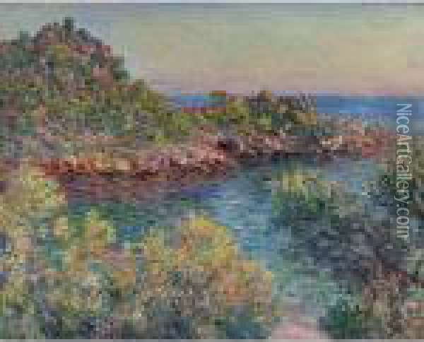 Pres Monte-carlo Oil Painting - Claude Oscar Monet