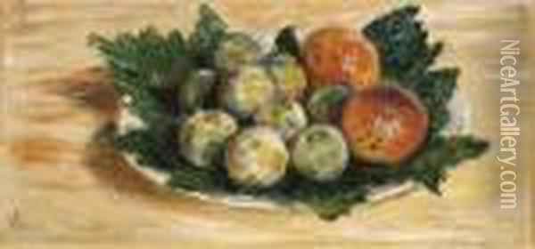 Prunes Et Abricots Oil Painting - Claude Oscar Monet