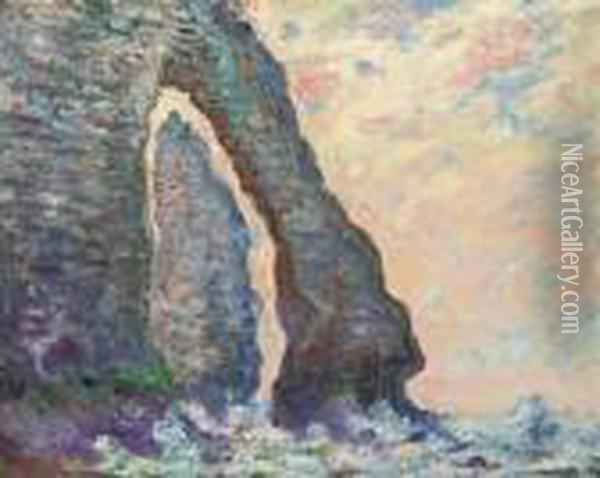 L'aiguille, A Travers La Porte D'aval Oil Painting - Claude Oscar Monet