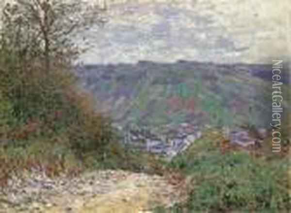 Chemin Creux A Giverny Oil Painting - Claude Oscar Monet