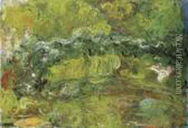 Le Pont Japonais Oil Painting - Claude Oscar Monet