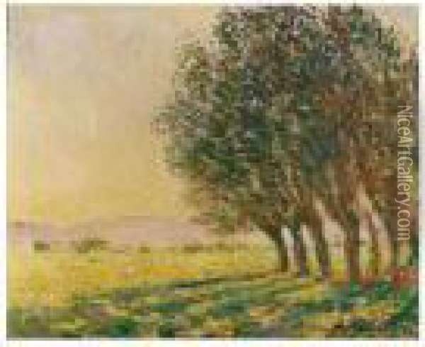 Saules Au Soleil Couchant Oil Painting - Claude Oscar Monet