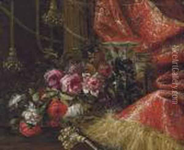 Roses In A China Bowl With Other