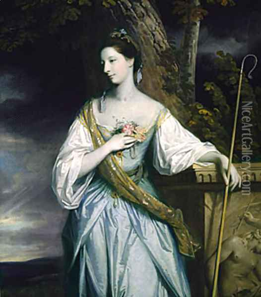 Anne Dashwood Later Countess of Galloway 1764 Oil Painting - Sir Joshua Reynolds