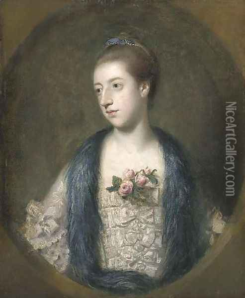 Portrait of Miss Mary Powis, afterwards Lady Stopford and Countess of Courtown Oil Painting - Sir Joshua Reynolds