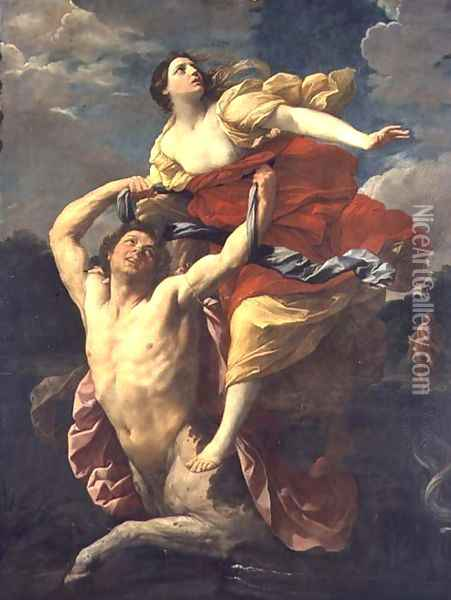 The Abduction of Deianeira by the Centaur Nessus, 1620-1 Oil Painting - Guido Reni