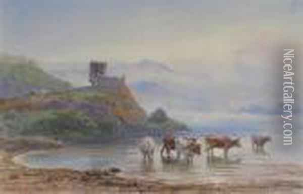 Dunolly Castle, Oban Oil Painting - Henry Moore
