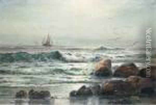 When The Flowing Tide Comes In Oil Painting - Edward Moran