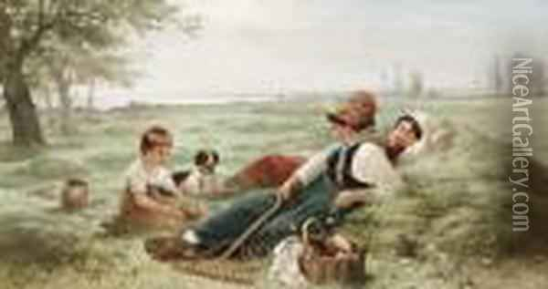 Noon Day Rest Oil Painting - Edward Moran
