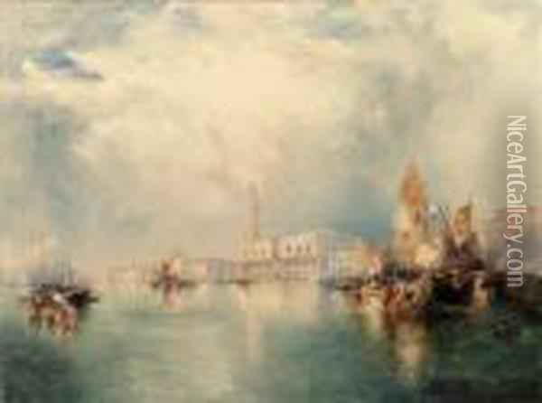 Venice--grand Canal Oil Painting - Thomas Moran