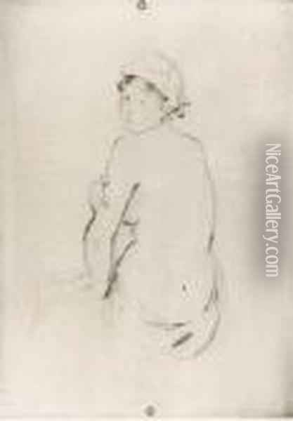 [untitled]: A Group Of Six Etchings Oil Painting - Berthe Morisot
