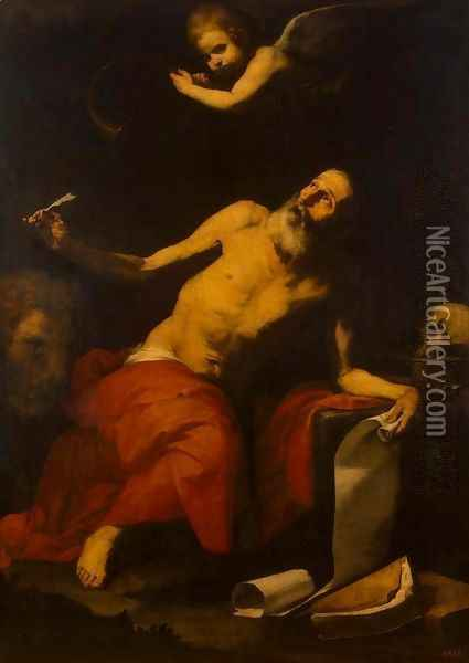 St Jerome and the Angel Oil Painting - Jusepe de Ribera