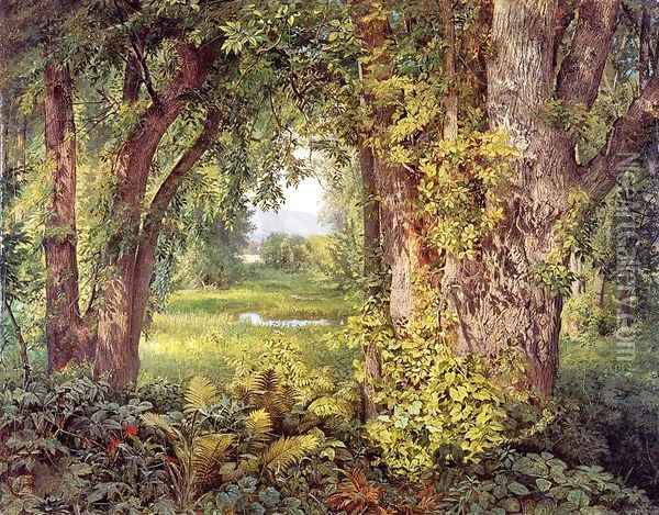 Into the Woods Oil Painting - William Trost Richards