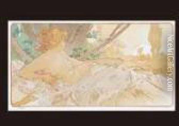 Dawn Oil Painting - Alphonse Maria Mucha