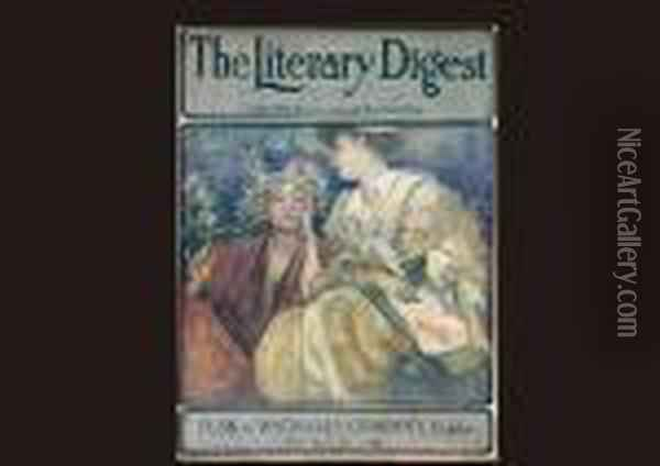 Front Cover Of Literary Digest Oil Painting - Alphonse Maria Mucha