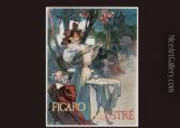 Caf? Conser Oil Painting - Alphonse Maria Mucha