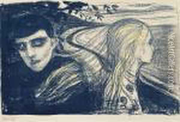 Separation Ii Oil Painting - Edvard Munch