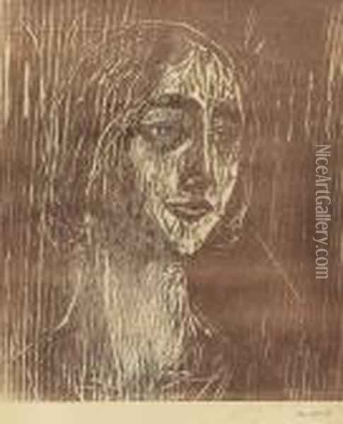 Birgitte Iii The Gothic Girl Oil Painting - Edvard Munch