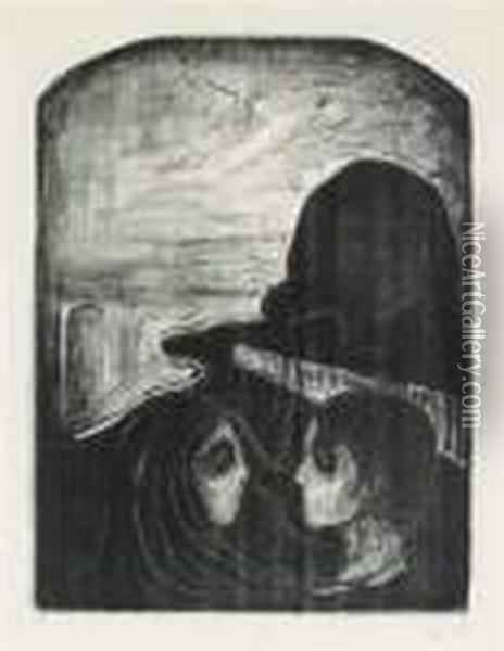 Attraction I Oil Painting - Edvard Munch