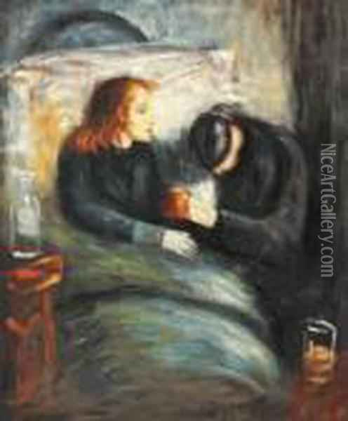 The Sick Child Oil Painting - Edvard Munch