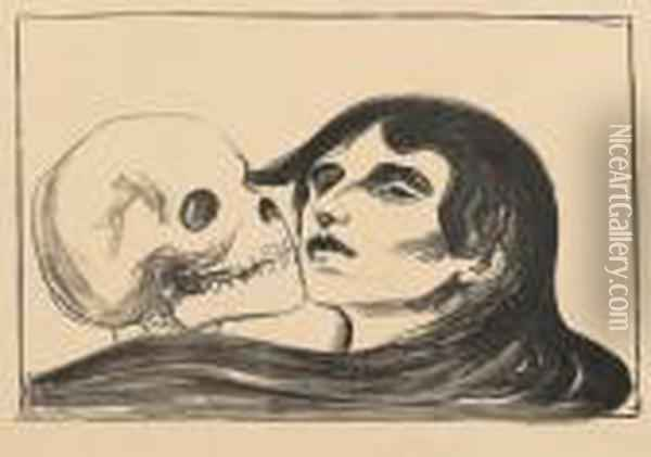 The Kiss Of Death Oil Painting - Edvard Munch